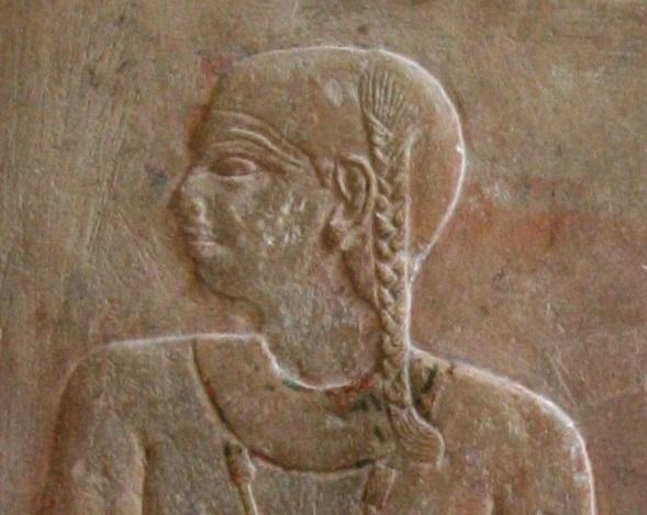 Son of Ptahhotep with lateral lock of hair. VI Dynasty. Ancient Egypt. Photo Mª Rosa Valdesogo