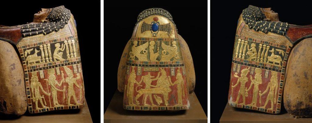 Funerary Mask of Artemidora. Three sides. Photos metmuseum.org. Ancient Egypt